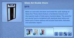 Glass Act Double Doors