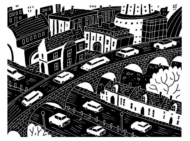 Black And White Roads