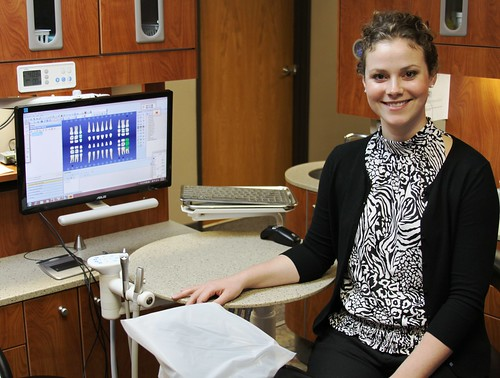 Dr. Julee Kingsley, dentist, practices out of a building in Elgin, Minn., financed with a USDA Rural Development Community Facilities loan. Dr. Kingsley grew up in Elgin, and returned to her home town to work after graduation.