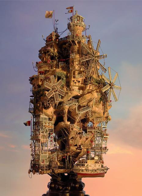 TAKANORI AIBA: Sculpture with Photo Collage
