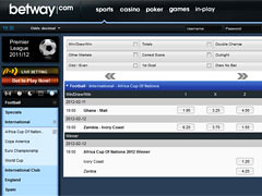 Betway Football Betting