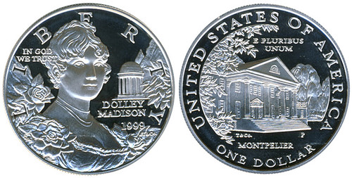 dolley madison silver dollar