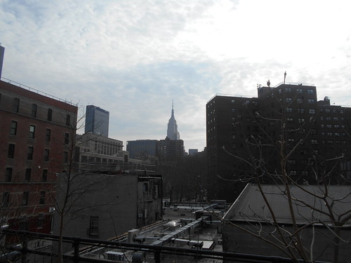 distant empire state building