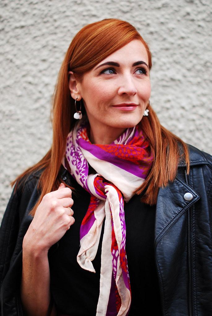 Biker jacket & scarf