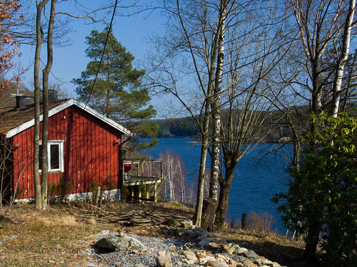 lake cabin view sweden wonderfulworld