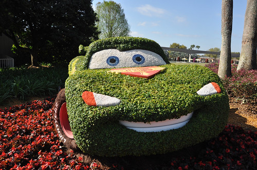 Lightning McQueen at Flower and Garden