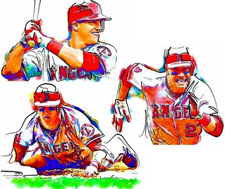 mike trout logo coloring pages - photo#26