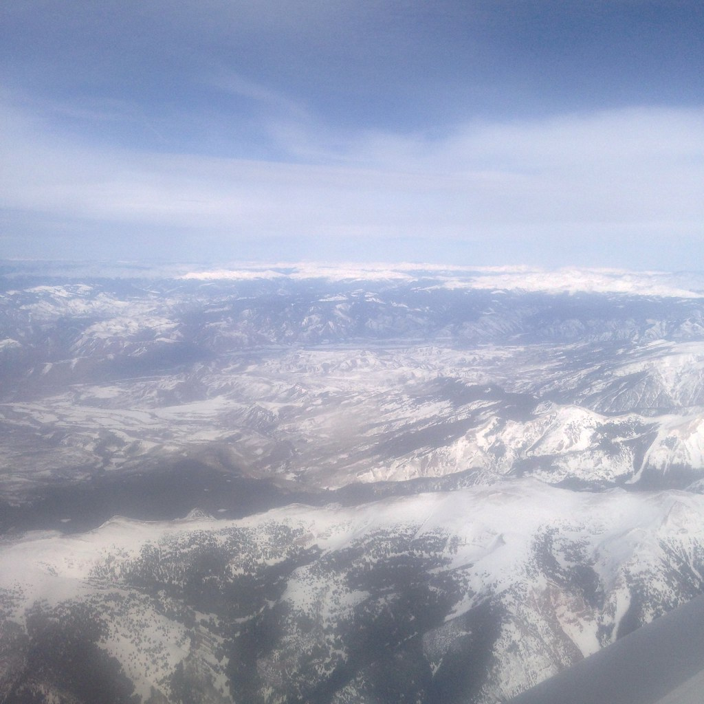 Snow-capped mountains of Colorado