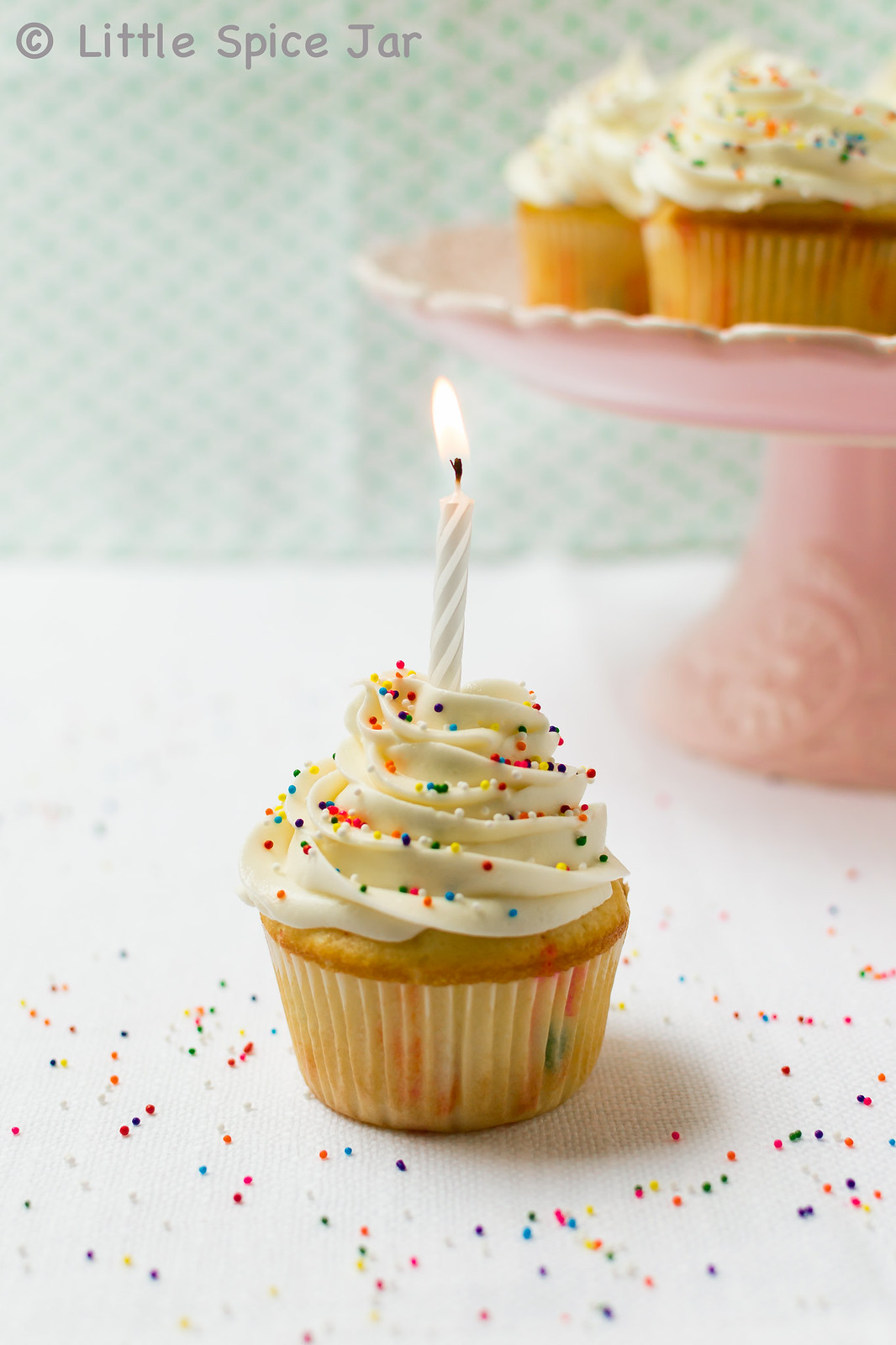 Confetti Funfetti Cupcakes - an EASY scratch recipe that's so delicious that you'll never buy the cake mix again! #confetticupcakes #cupcakes #funfetticupcakes | Littlespicejar.com