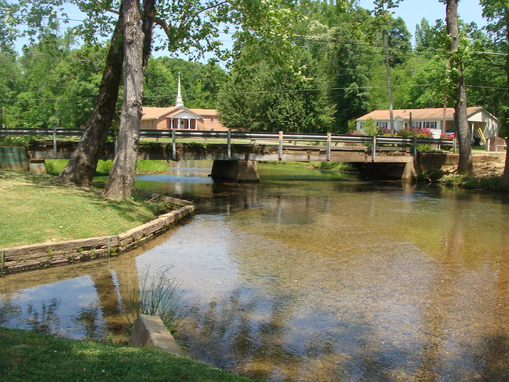 Creek--Bridge--Church---Oxford, Al.
