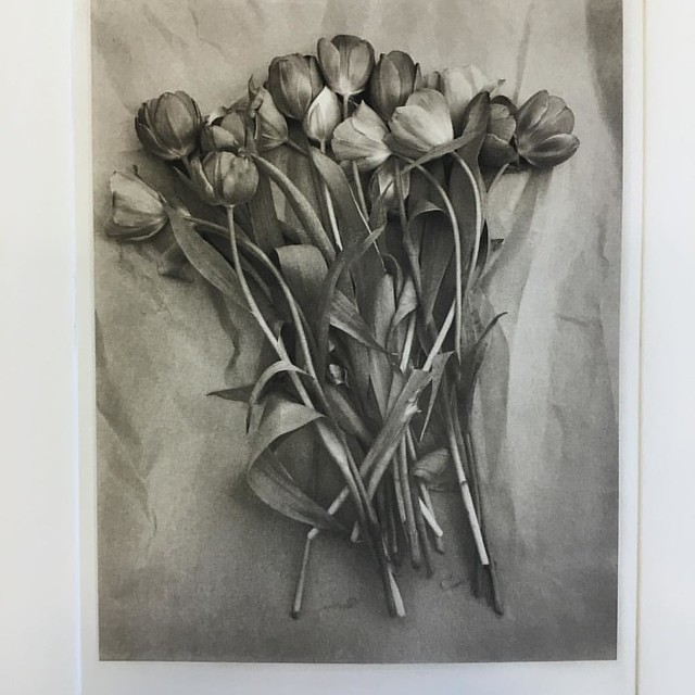 My first polymer gravure print from today's workshop with Russell Dodd. #gravure #polymer#8x10film #largeformat