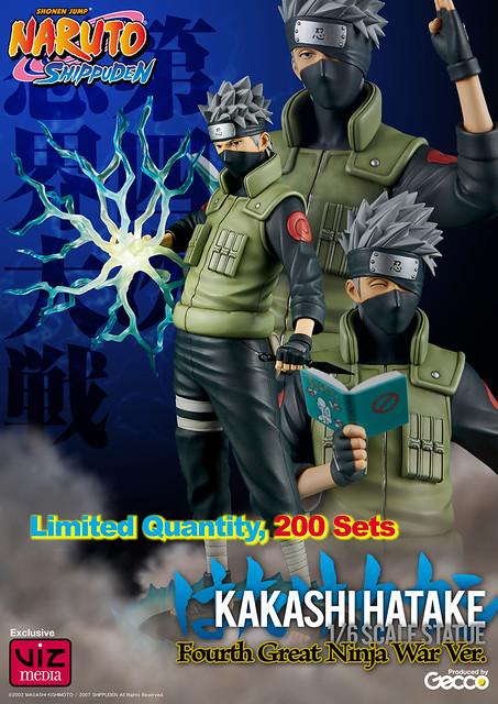 Gecco【第四次忍界大戰:旗木卡卡西】VIZ 200 體限定版 Hatake Kakashi 1/6 比例全身雕像