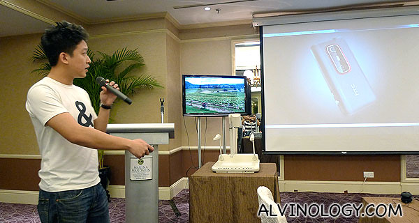 HTC representative introducing the EVO 3D