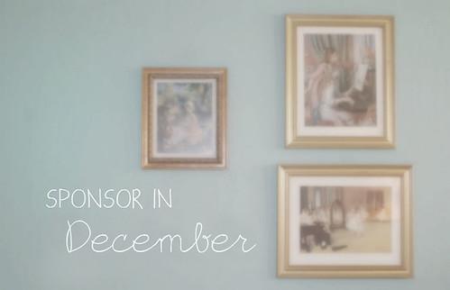 Sponsor in December