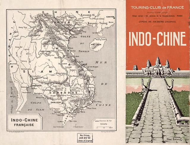 Indo-Chine Brochure 1910 - Brochure quảng bá du lịch Đông Dương 1910 bằng tiếng Pháp và tiếng Anh