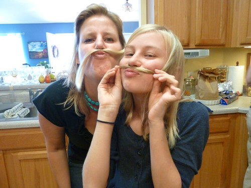 Pretty ladies with mustaches
