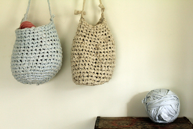 rag crocheted bags