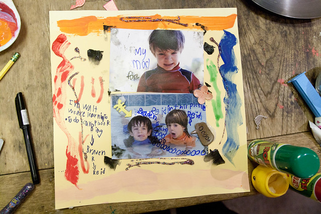 Braden's First Scrapbook Layout