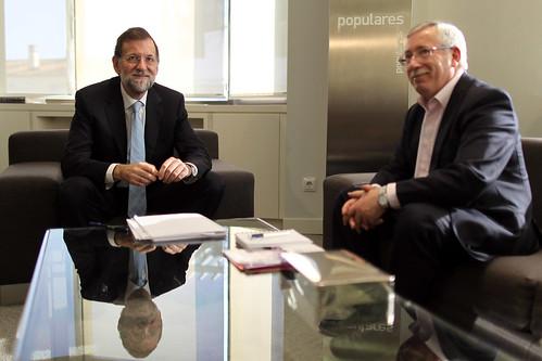 Una reunión anteriro de Rajoy con Fernandez Toxo