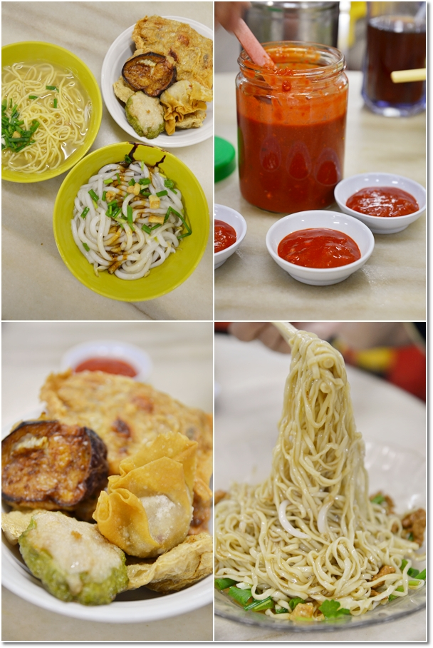 Fishball Noodles, Hakka Mee, Garlic Chili Sauce