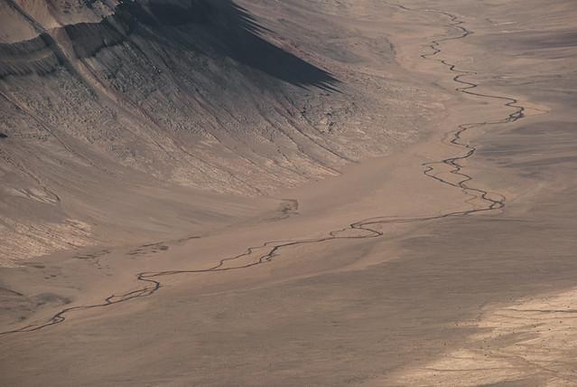 Río Onix en los valles secos de McMurdo. Tierra Victoria. La Antártida.