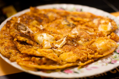 Korean Pancake with Kimchi at Golden Pig