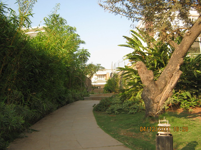 Walkway - Visit to Paranjape Schemes' Forest Trails, Bungalows, 2 BHK & 3 BHK Flats at Bhugaon, Pune 411 042