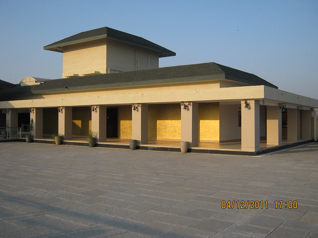 Terrace of the club house - Visit to Paranjape Schemes' Forest Trails, Bungalows, 2 BHK & 3 BHK Flats at Bhugaon, Pune 411 042