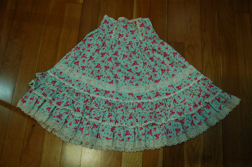 Lolita Closet Count! Skirts: Blue - Bodyline Strawberry Print