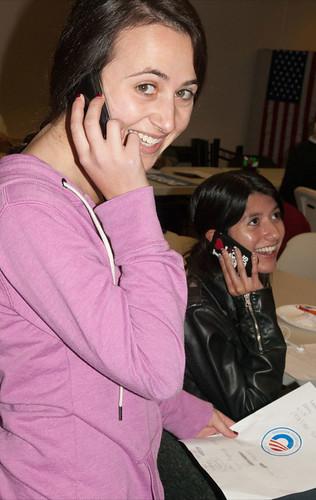 Becca phone banking!