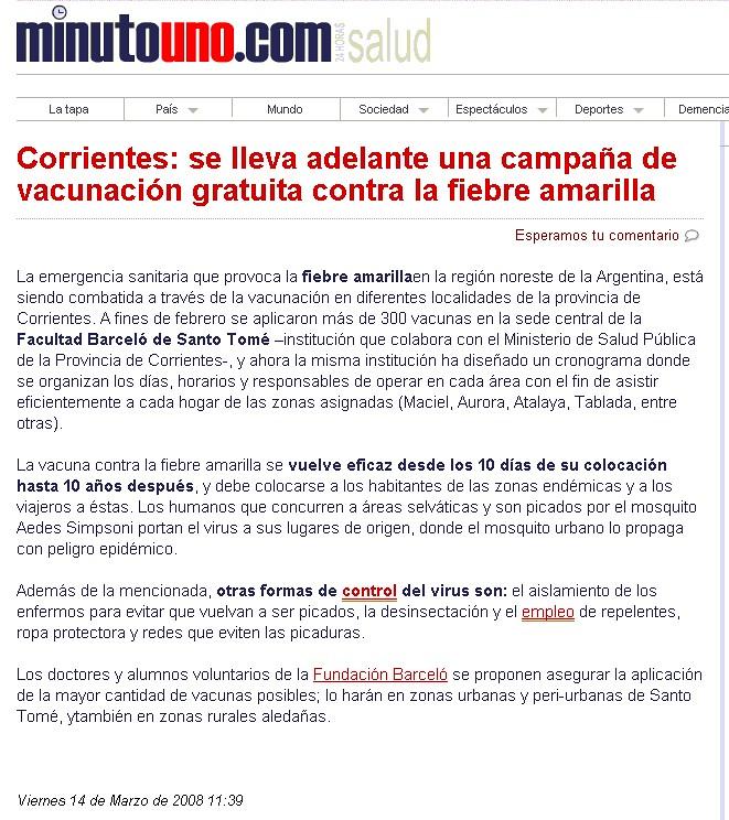 Site Minuto Uno 14-03-08