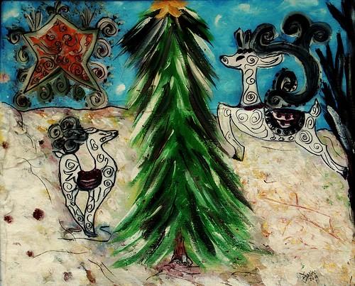 Christmas Reindeer by BeverlyDiane