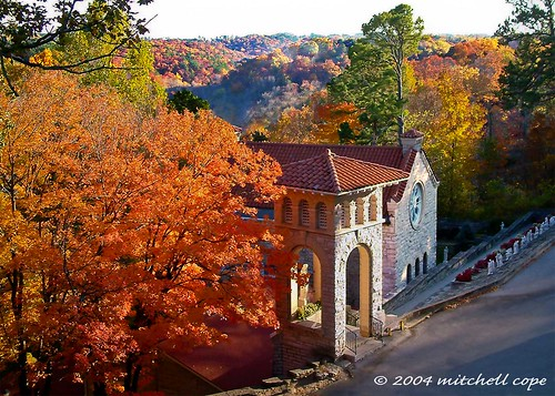 autumn trees red color fall church leaves landscape geotagged colours arkansas ozarks eurekasprings