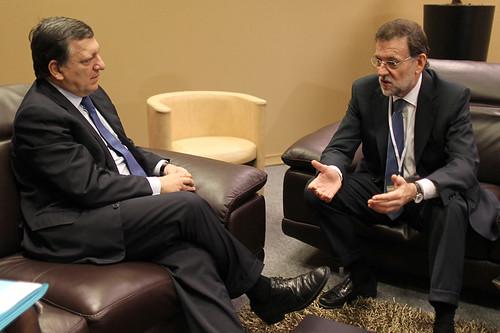 Rajoy con Durao Barroso