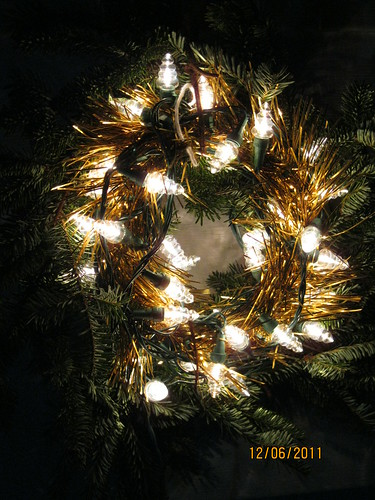12/6/11: Extra tree branches turn into a wreath.