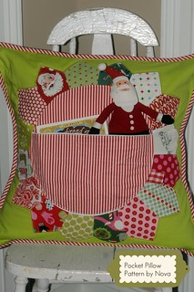 New Holiday Pillow - Pattern Giveaway, enter on Blog
