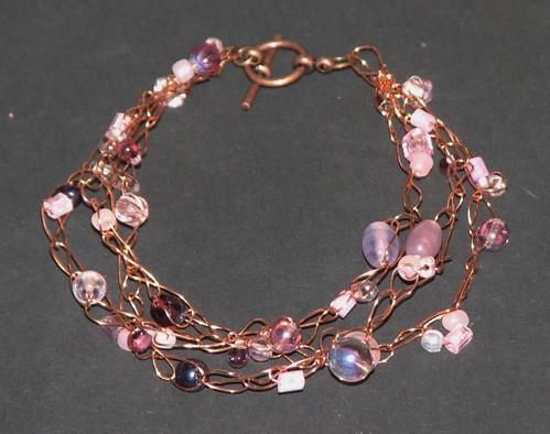 Crochet Wire Bracelet 016