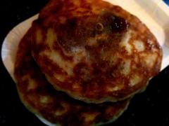 fried food(0.0), produce(0.0), roti(0.0), potato pancake(0.0), meal(1.0), breakfast(1.0), fritter(1.0), hotteok(1.0), food(1.0), dish(1.0), cuisine(1.0), pancake(1.0),