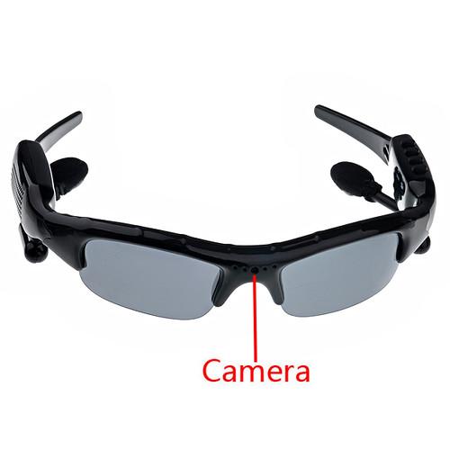 Rechargeable 2GB 1.3MP Pinhole Spy Camera Sunglass MP3 Player with FM Radio