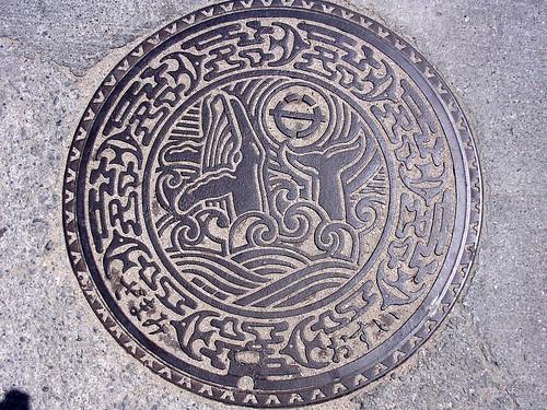 Zamami Okinawa manhole cover(沖縄県座間味村のマンホール)