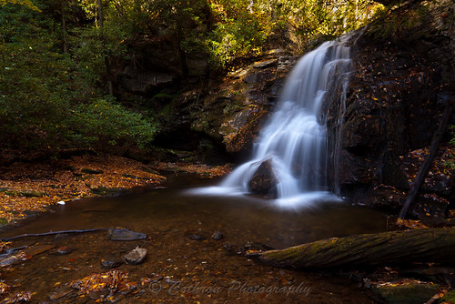 autumn fall nature water creek river georgia waterfall stream outdoor sunny granite flowing fissure freshwater crevice ravenclifffalls whitecounty doddcreek maidenhairfalls johncothron cothronphotography