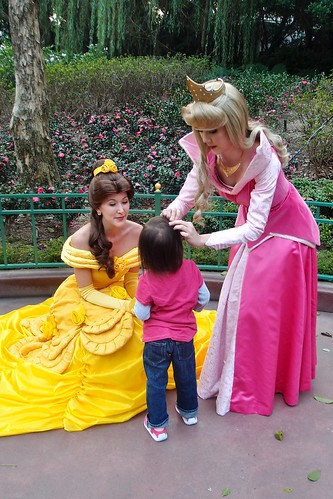princesses fussing over her