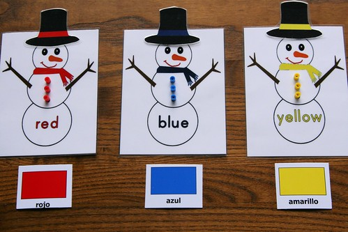 Montessori-Inspired Snowman Color Activity