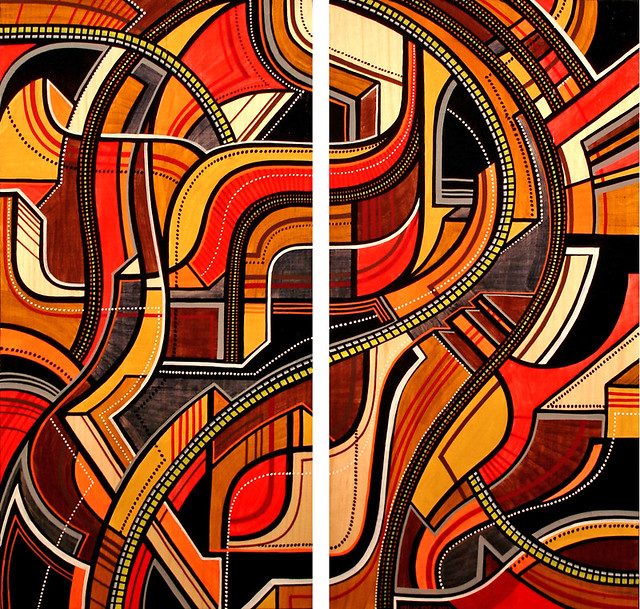 Friday Flashback : 2005 Diptych On Wood.
