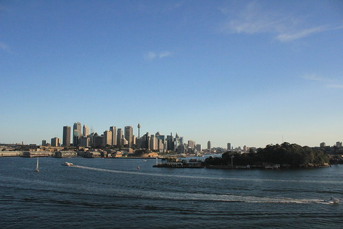 View from Balls Point Reserve of Sydney