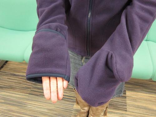 手袋付きフリースブルゾン