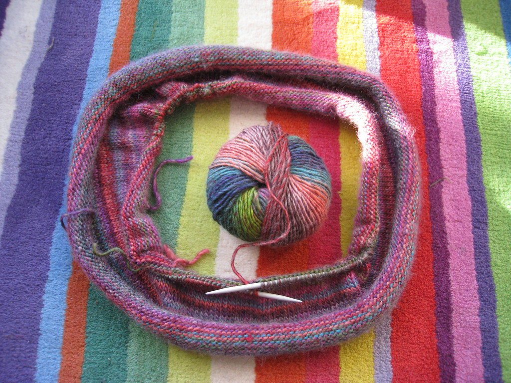 Stripy snood