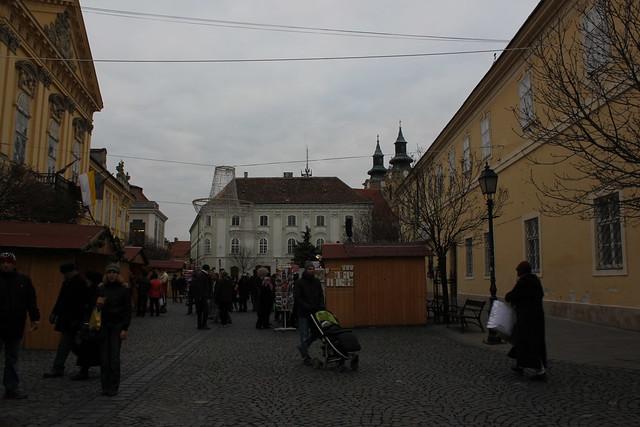 La plaza del ayuntamiento de Székesfehérvár