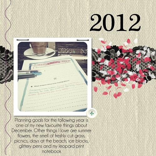 December - Planning for 2012