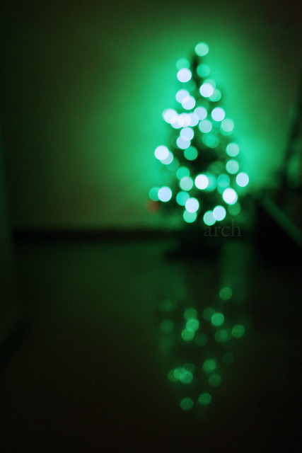 Our bokeh-licious christmas tree...
